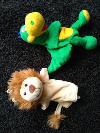 Pacynki lew i dinozaur,smok