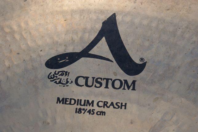 "Zildjian A custom medium crash 18"""