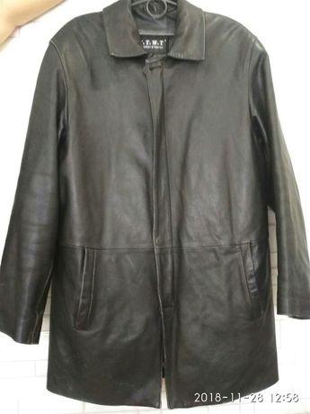 Брендовая кожанная куртка мужская