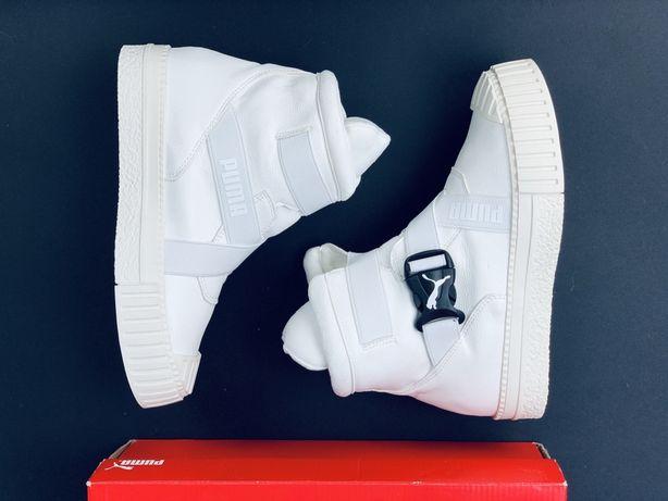 Кожаные кроссовки Puma Cali Bold Пума Кали Болт на флисе 2020 Ботинки
