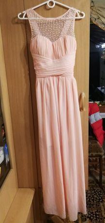 Sukienka, pudrowy róż, rozmiar S