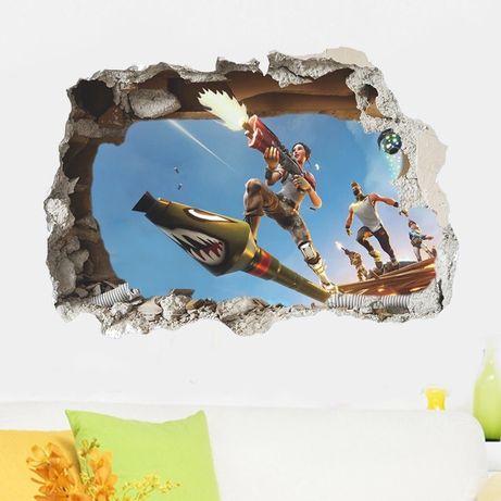Виниловые интерьерные наклейки на стену Фортнайт 52*73, 45*60, 34*57cm