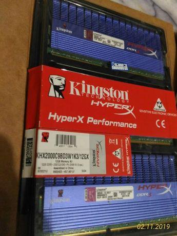 Оперативная память Kingston DDR3-2250 6144MB PC3-18000 (Kit of 3x2048