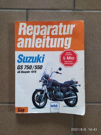 Instrukcja serwisowa książka Suzuki Gs 750 550