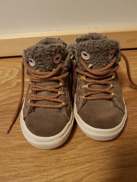Zara buty trampki do kostki ocieplane 22 na jesień przejściowe