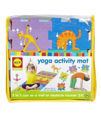 Коврик для йоги детский, мягкий коврик пазл, мат Alex США