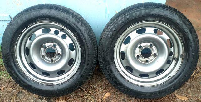 Шины с дисками б/у зимние Dunlop Winter Sport 195/65/15,диски GM Opel