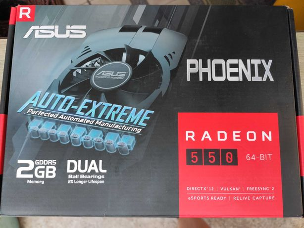 Видеокарта ASUS Radeon RX-550 2 GB