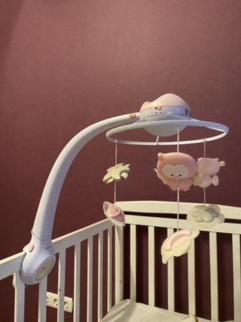 Карусель на кроватку музыкальная с проектором 3в1, розовый - Infantino