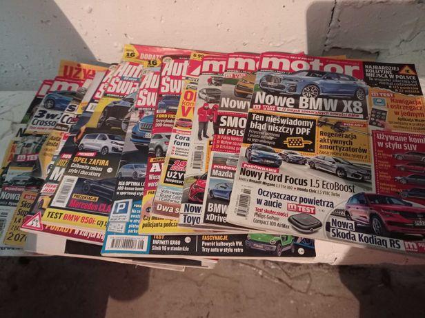 gazety motoryzacyjne-m.in: motor, auto swiat-starsze numery