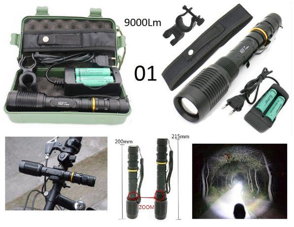 Lanterna de Mão com Zum e 4000Lm muito forte, kit complt.
