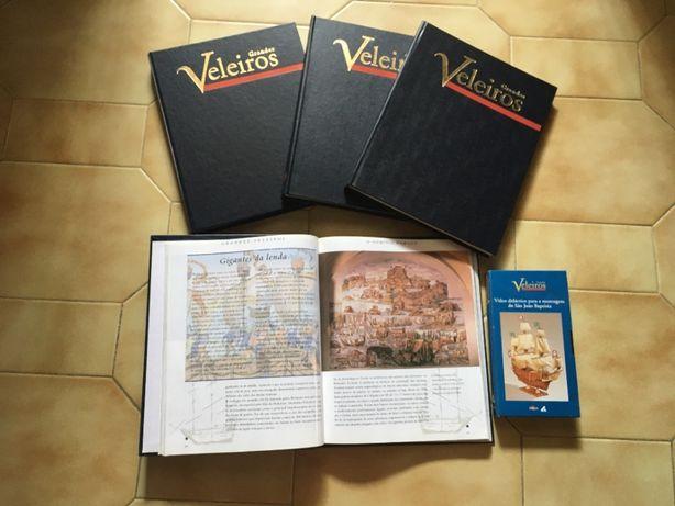 4 volumes dos Grandes Veleiros + Cassete VHS