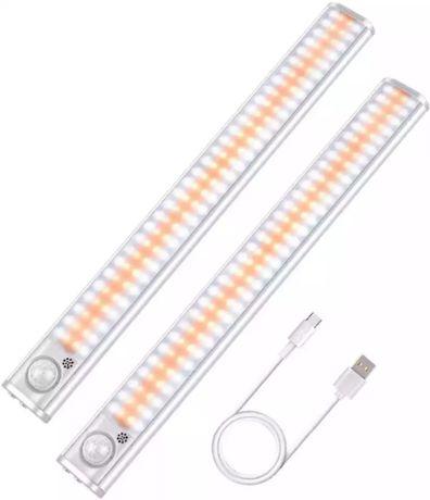 LED светильник лампа 120 и 160 диодов датчик движения света аккумулято