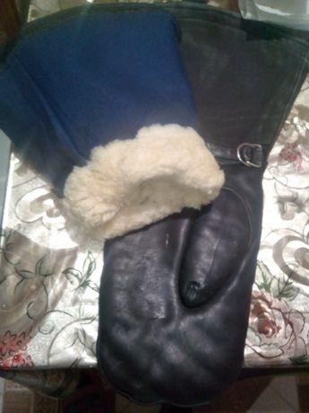 Мото рукавицы,хромовые