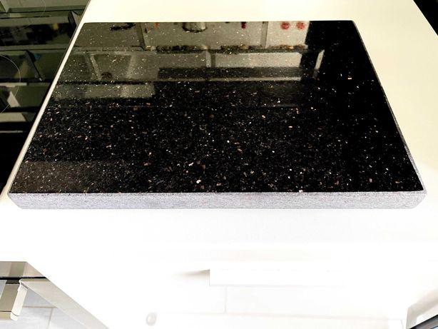 Deska Do Pizzy Lub Krojenia Kamienna Granitowa Granit Czarna 40x30x3cm