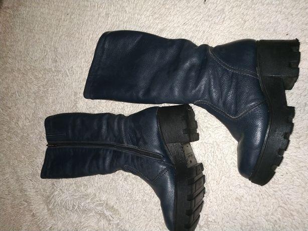 Кожаные сапоги(36 размер)