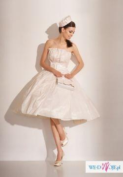 Suknia ślubna Biancaneve Atelier M. Dudek retro '50 duzo dodatkow
