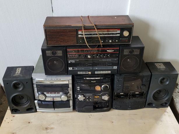 RTV UNITRA różne radia wieże magnetofony kolumny elektronika złom