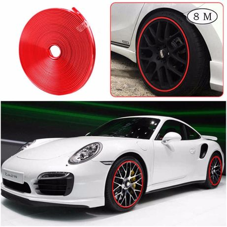 для титанов дисков колес молдинг корейский цветной гибкий
