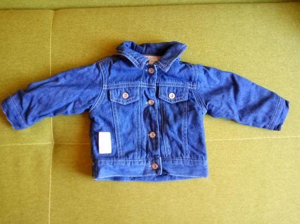 Красивая джинсовая ветровка для новорожденной девочки (0-3 месяца)
