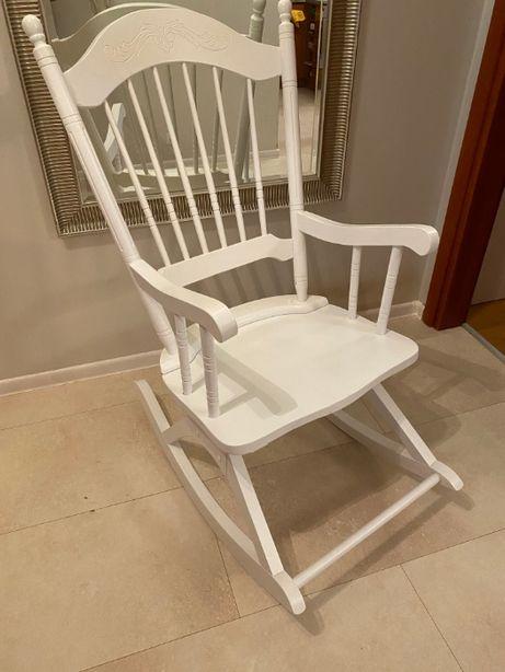 Fotel bujany drewniany - jedyny taki!