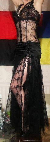 Платье кружевное вечернее