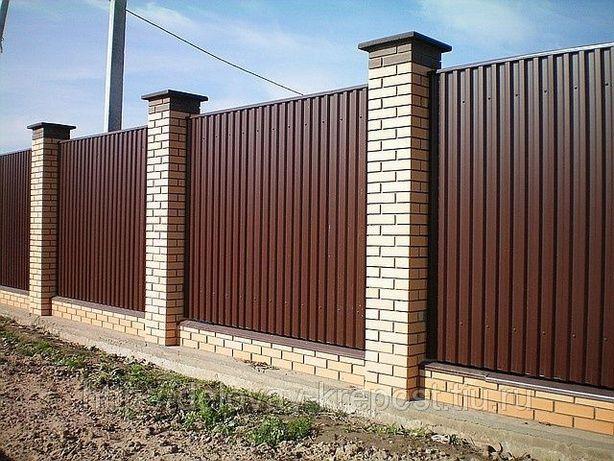 Профнастил на паркан (забор), покрівлю. Виробництво в Києві. Доставка