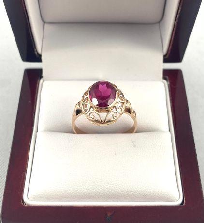 ZŁOTY pierścionek ażurowe zdobienie PR. 585 (14K), rozmiar 22