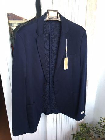 Blazer azul escuro Michael Kors de homem, novo com etiqueta, 42 L