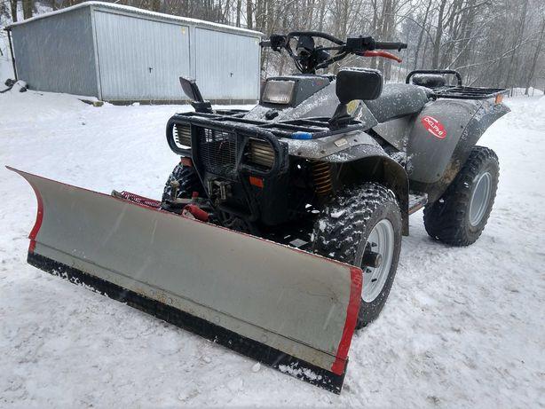 Polaris 350 46KM 4x4 Quad REJESTR PL wyciągarka pług