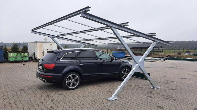 CARPORT fotowoltaika konstrukcja stalowa PV panele wiata garaż