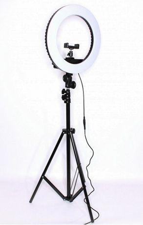 Набор блогера 2 в 1 Кольцевая LED лампа 26 см с держателем для телефон