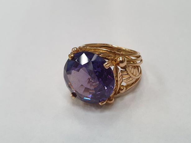 Wyjątkowy złoty pierścionek damski/ Aleksandryt/ 585/ 14.4g/ R21