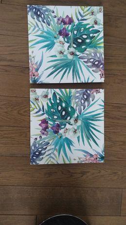Obrazek na ścianę, tropki, liście