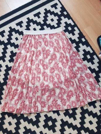 Spódnica plisowana w kwiaty  S/M