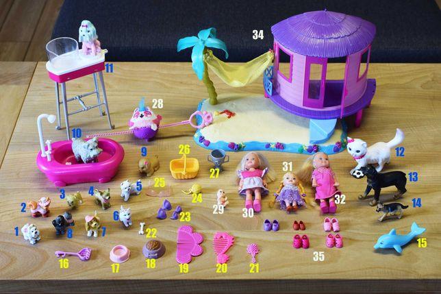 Dodatki akcesoria dla lalka Barbie pieski bączek wanna, domek na plaży