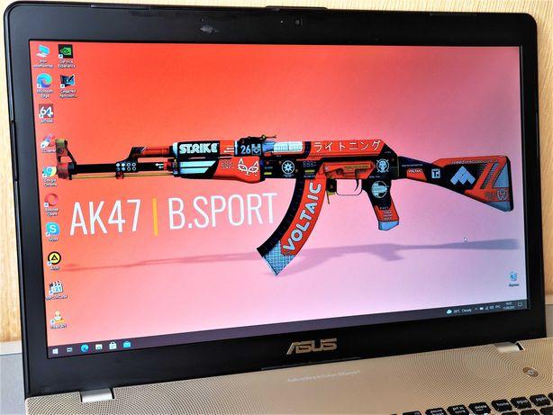 Большой, алюминиевый игровой ноутбук ASUS N76. Магазин SIGMA