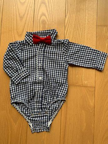 koszula body niemowlęca z muchą Ok. 68 cm, 3-6 miesięcy