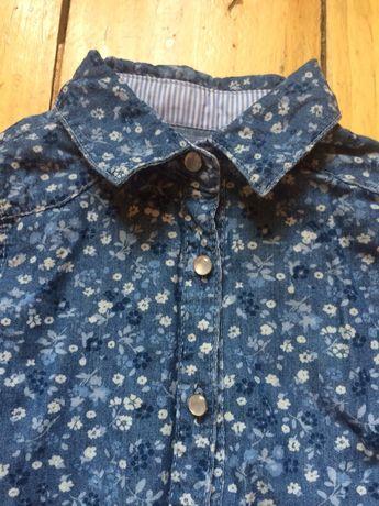 Джинсовая рубашка сорочка  next 104