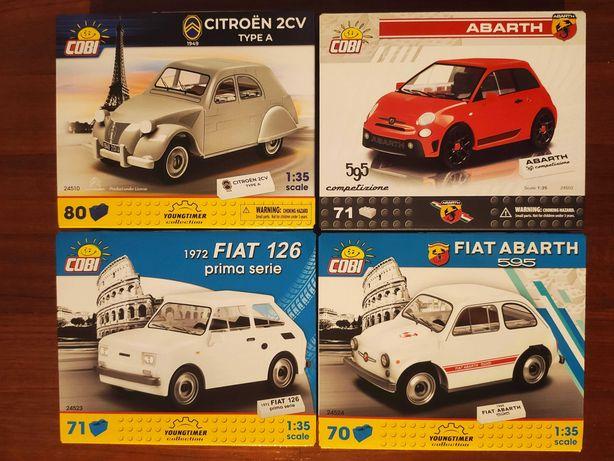 Fiat 500 Abarth Citroen 2CV Fiat 126 Fiat 595 Cobi Compativel Lego