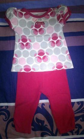 bluzeczka i geterki leginsy dla dziewczynki na ok. 3mies