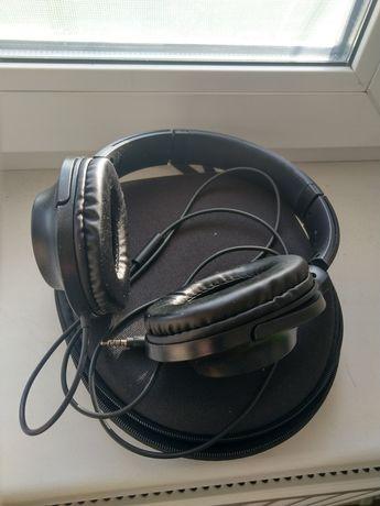 Продам накладні навушники+чохол та перехідник