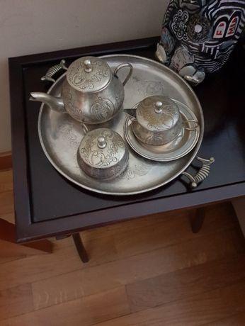 Conjunto de chá, arte nova em metal