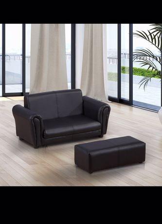 Sofa kanapa podnóżek czarna