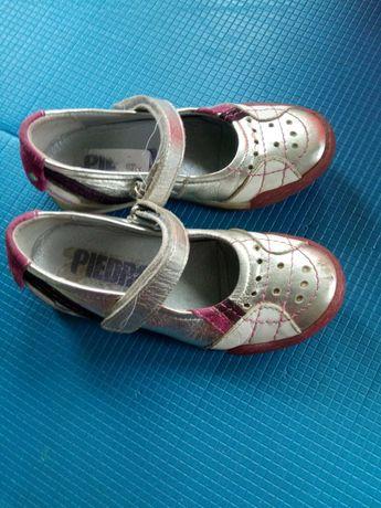 Шкіряні туфлі, мокасини розмір 27