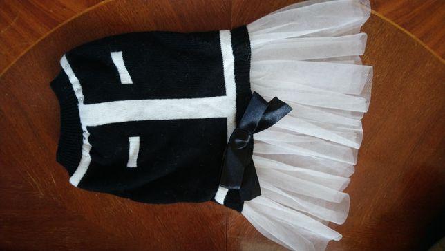 Ubranko dla małego pieska sukienka