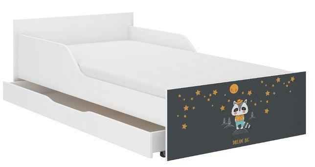 Łóżko dziecięce młodzieżowe PUFI 180x90 PROFILOWANY BOK materac+szufl