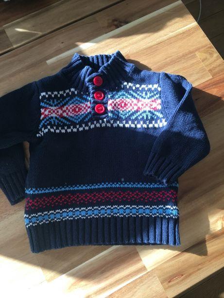 Zimowy sweterek 74cm