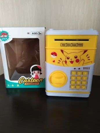 Игрушечный детский сейф для бумажных денег Пикачу игрушка
