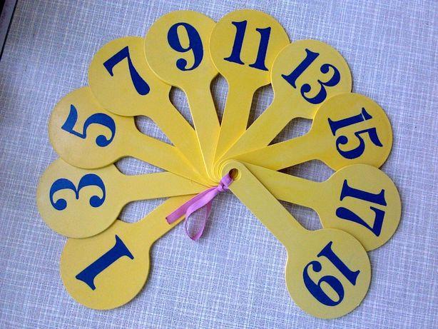 Цифры-веер (четные/нечетные числа) обучение счету (для садика/школы)